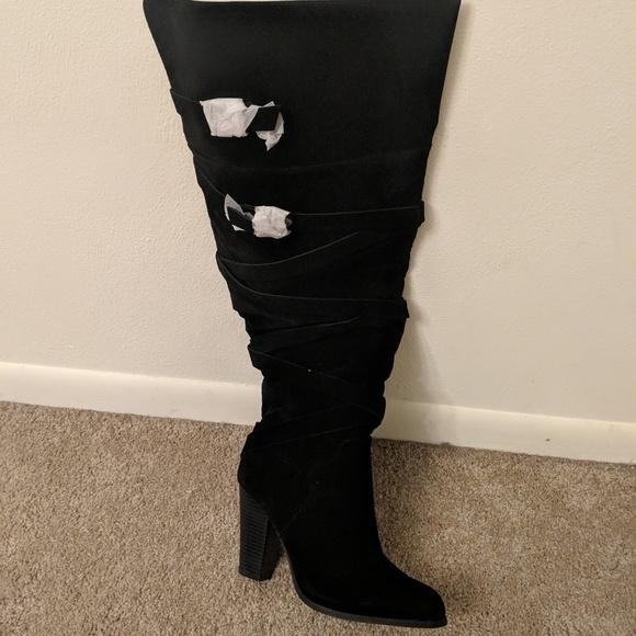 44d445b3556 Knee High Boots Wide Calf. M 5bf09f3b34a4ef3ac2d8cb3b